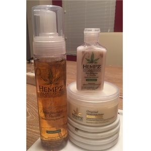 Hempz body wash and body butter set